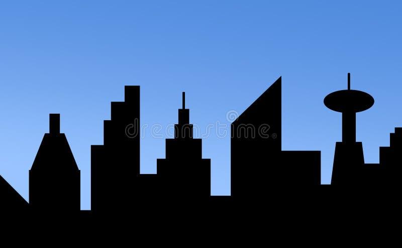 Skyline ilustração royalty free