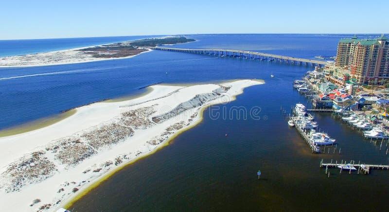 Skyline aérea de Destin, Florida - EUA fotografia de stock