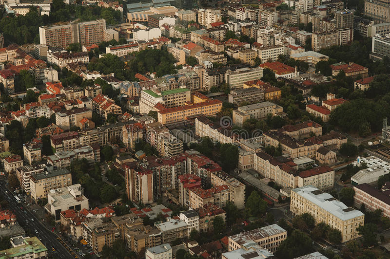 Skyline aerial view -city landscape stock images