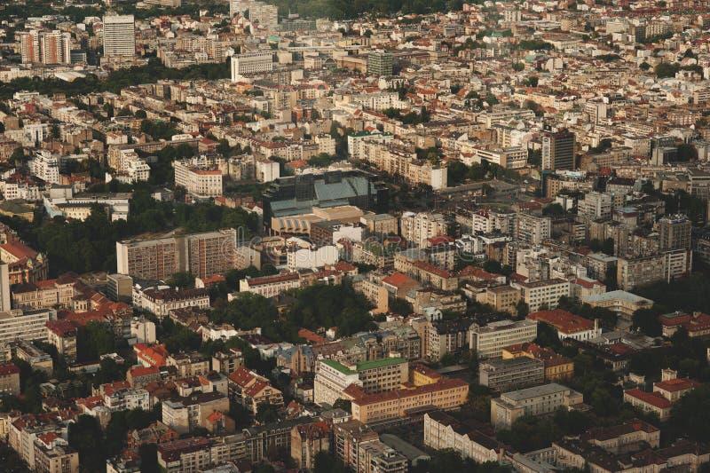 Skyline aerial view -city landscape stock photo