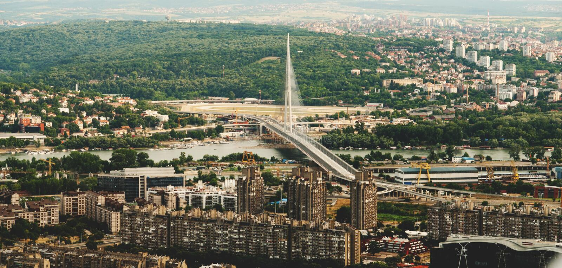 Skyline aerial view -city landscape stock photos
