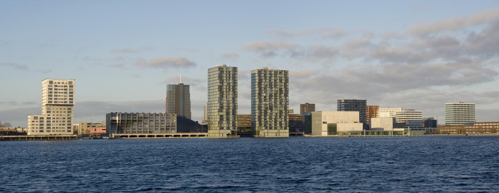 Skyline of Almere royalty free stock photography