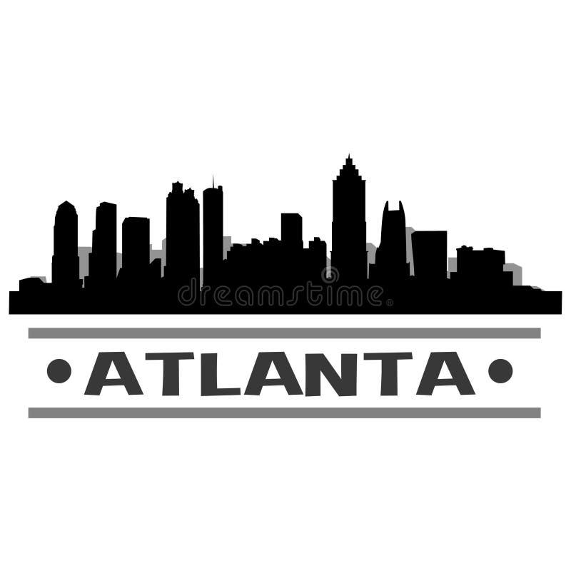 Atlanta Skyline City Icon Vector Art Design stock illustration