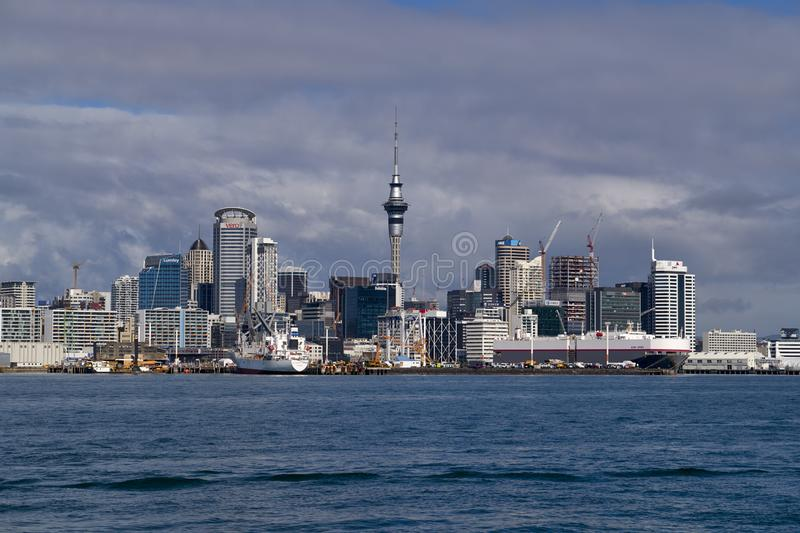 Auckland New Zealand. The skyline of Auckland New Zealand royalty free stock photo