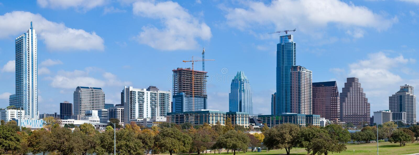 Skyline Austin-, Texas lizenzfreie stockfotos