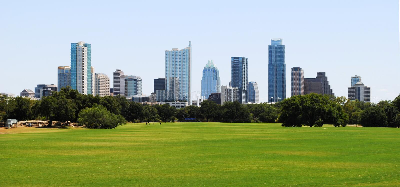 Skyline Austin-Texas stockbild