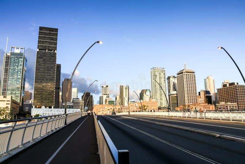 Skyline Austrália da cidade de Brisbane fotos de stock