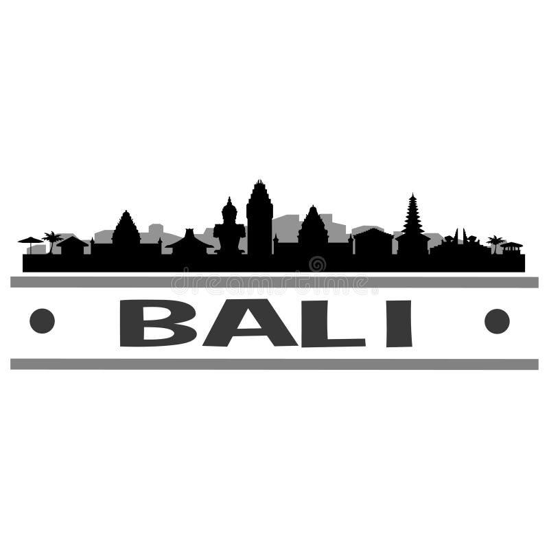 Bali Silhouette Design City Vector Art Stock Vector