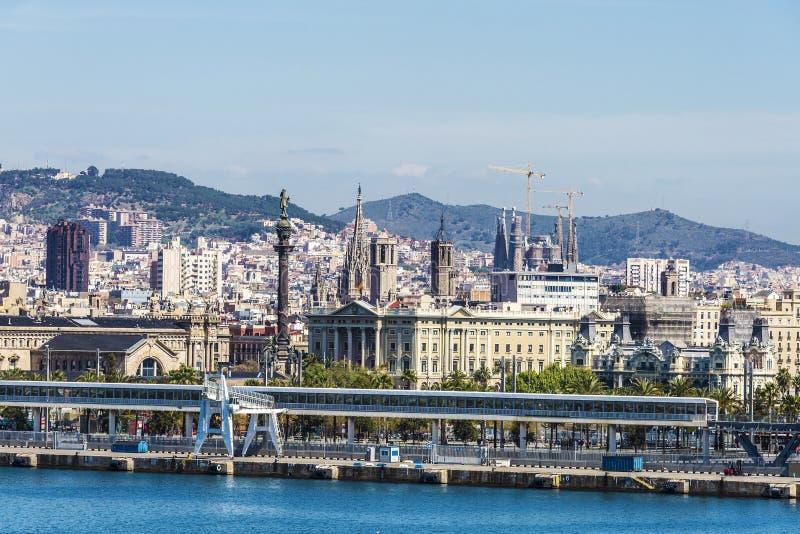 Skyline of Barcelona royalty free stock photos