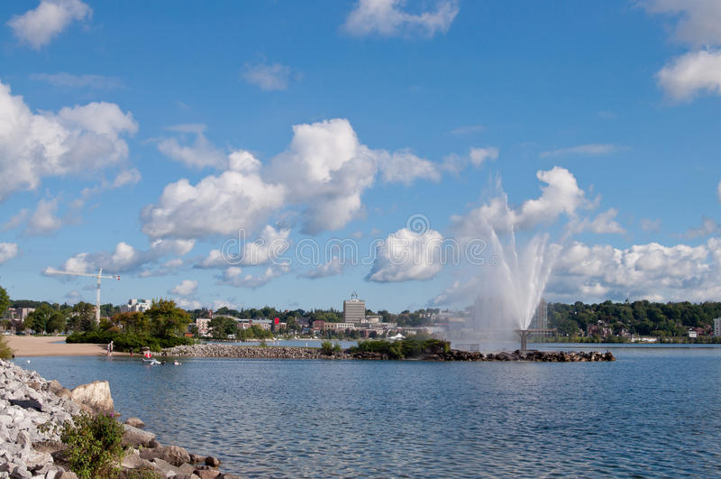 Skyline of Barrie, Ontario royalty free stock photo