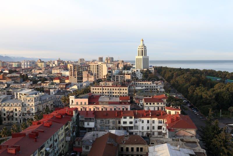 Skyline of Batumi royalty free stock photography