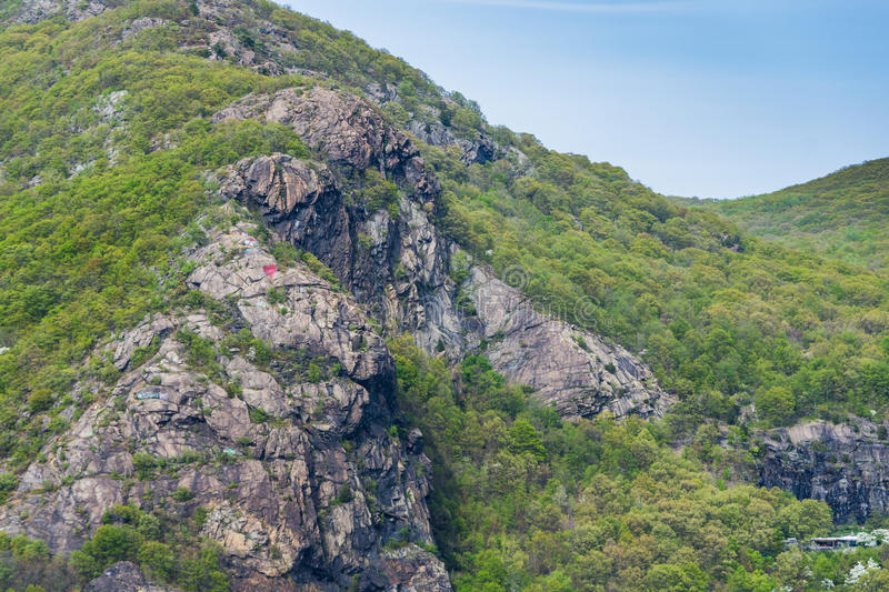 Skyline of Bear Mountain State park From Fort Montgomery in Upstate New York stock photography