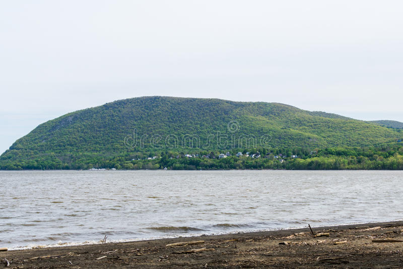 Skyline of Bear Mountain State park From Fort Montgomery in Upstate New York. Skyline of Bear Mountain State park From Fort Montgomery in Upstate New York stock photography