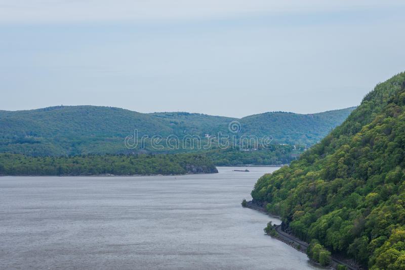 Skyline of Bear Mountain State park From Fort Montgomery in Upstate New York royalty free stock photography