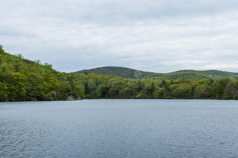 Skyline of Bear Mountain State park From Fort Montgomery in Upstate New York.  stock photos