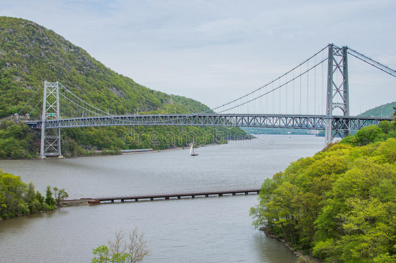 Skyline of Bear Mountain State park From Fort Montgomery in Upstate New York.  stock images