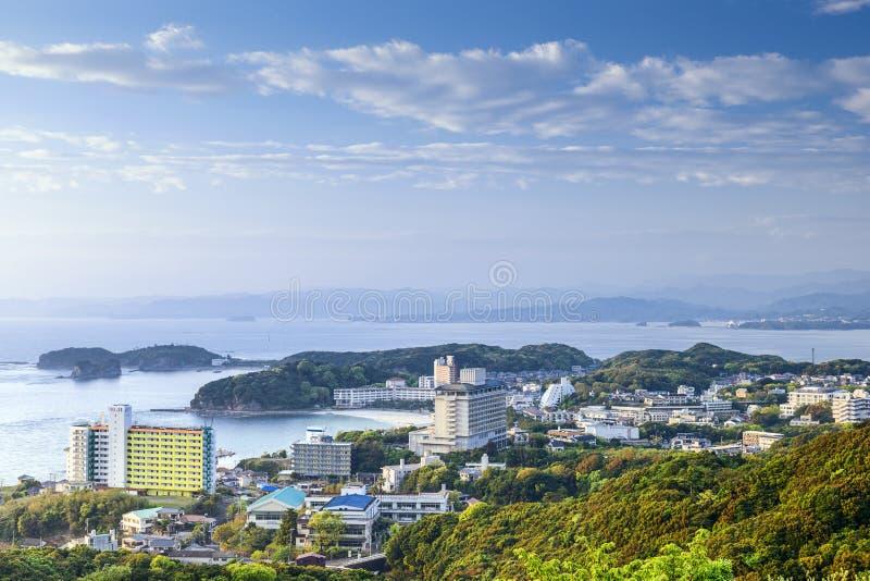 Skyline beira-mar de Shirahama, Japão imagens de stock royalty free