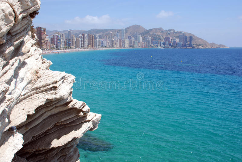 Skyline Benidorm stock images