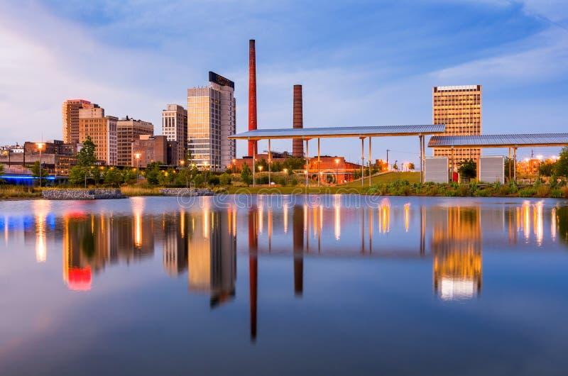Skyline Birminghams Alabama stockfoto