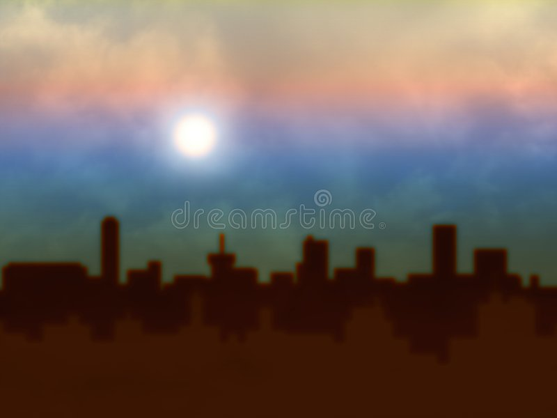 Skyline blur stock photography