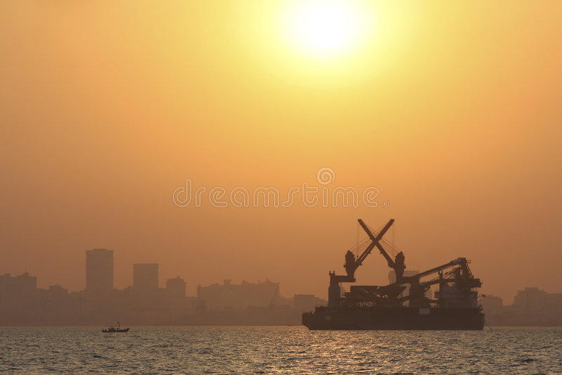 Skyline of Bombay royalty free stock images