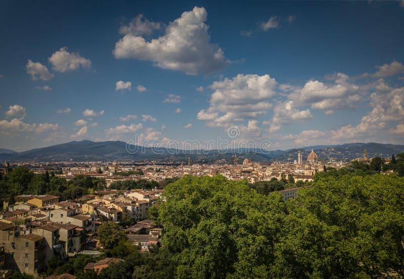 Skyline bonita da cidade de Florença com Florence Duomo fotografia de stock