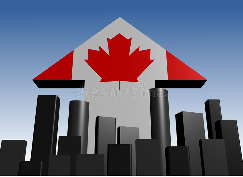 Download Skyline And Canadian Flag Arrow Stock Illustration - Illustration of economy, abstract: 16003271