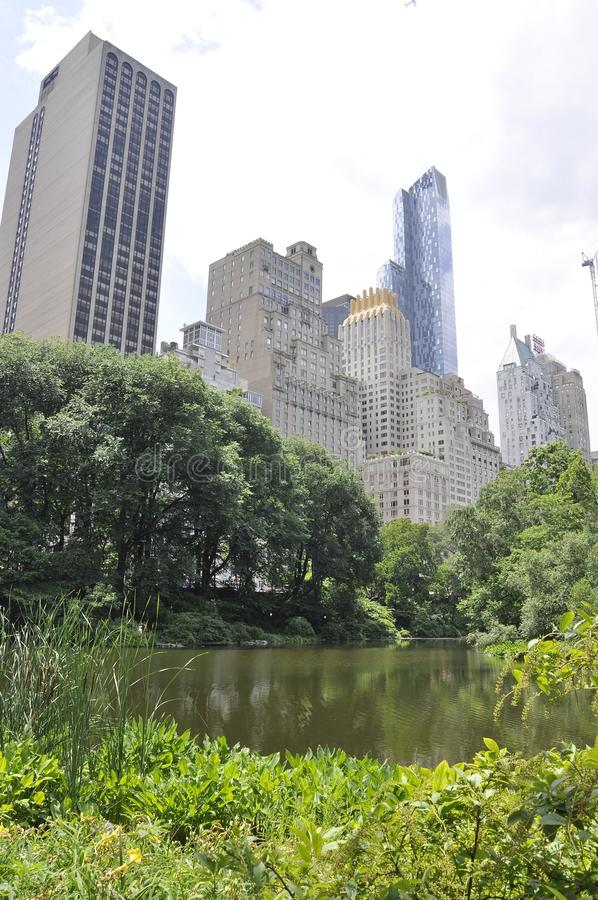 Skyline from Central Park in Midtown Manhattan from New York City in United States. On 1st July 2017 royalty free stock images
