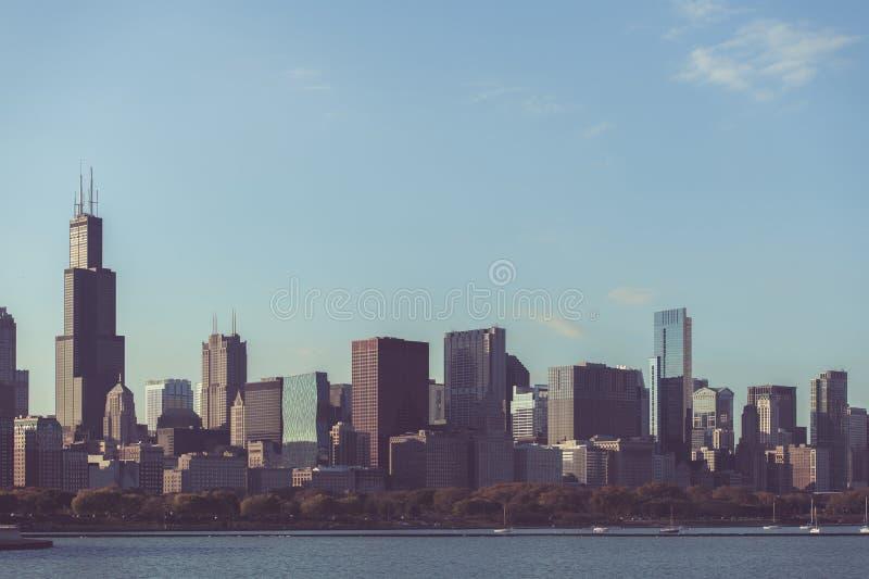 Skyline Chicago Illinois USA lizenzfreie stockbilder