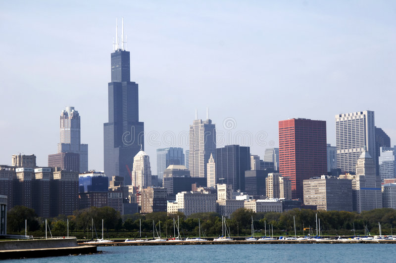 Download Skyline of Chicago SoC03 stock photo. Image of state, office - 1681348