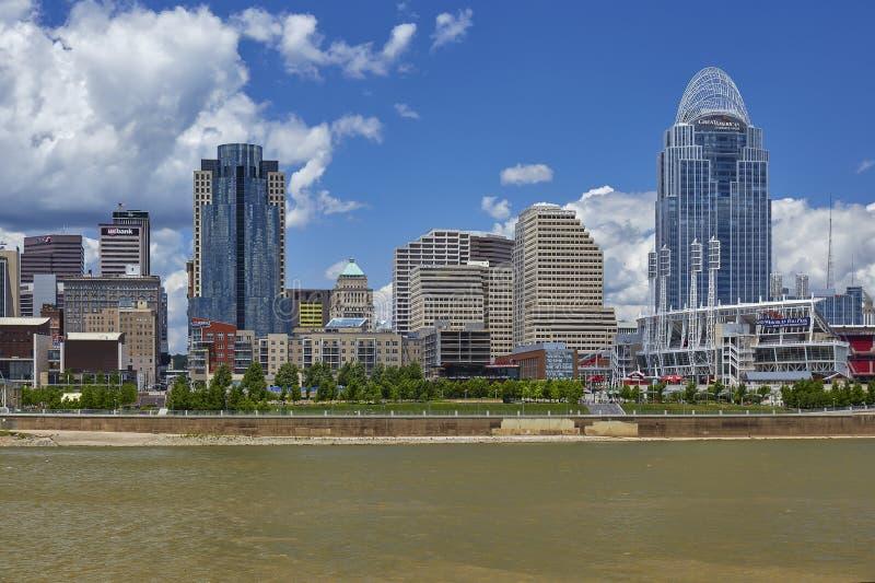 Skyline Cincinnati-, Ohio lizenzfreies stockbild