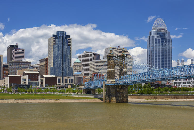 Skyline Cincinnati-, Ohio stockfotos