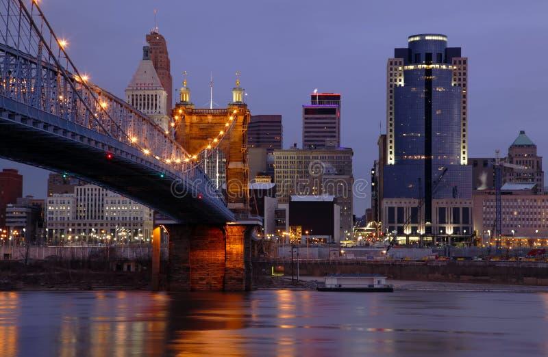 Skyline Cincinnati-, Ohio. lizenzfreies stockfoto