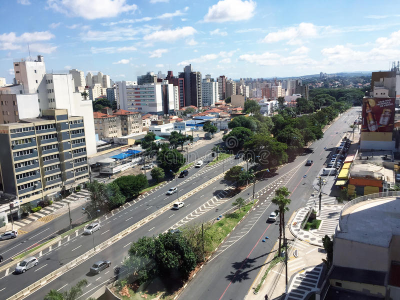 Skyline of the city of Campinas. Brazil & x28;in Sao Paulo state& x29 royalty free stock image
