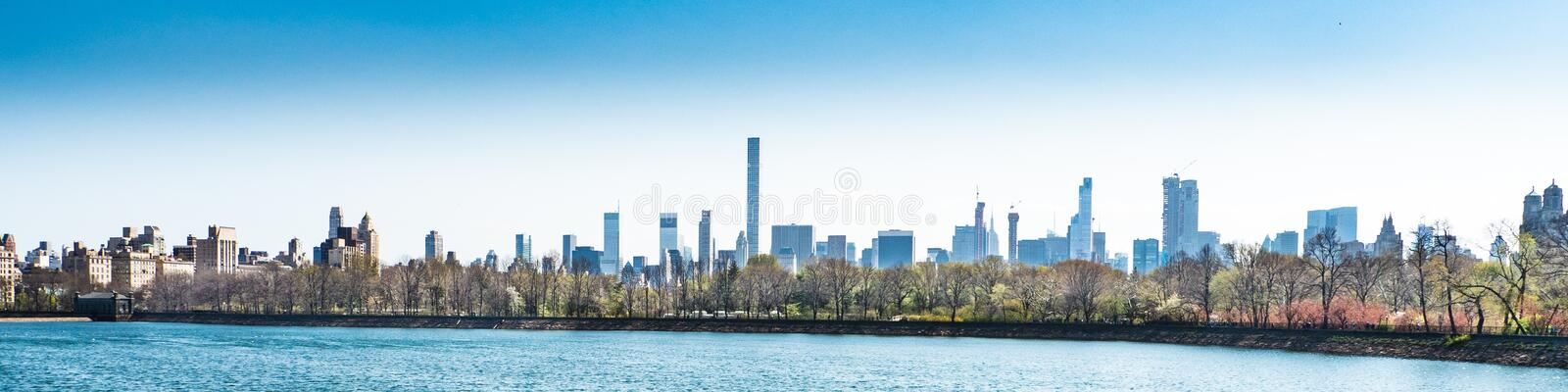 Skyline, City, Water, Daytime royalty free stock photos