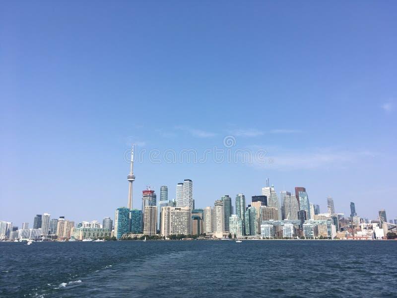 Skyline Cntower de Toronto fotografia de stock royalty free
