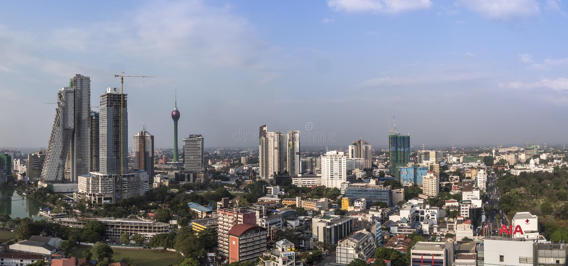 Skyline of Colombo stock photo