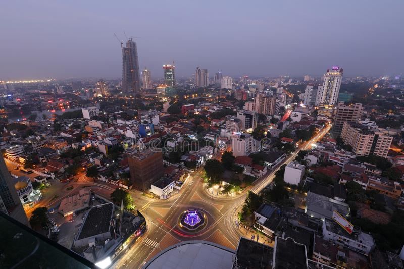 The skyline of Colombo royalty free stock photography