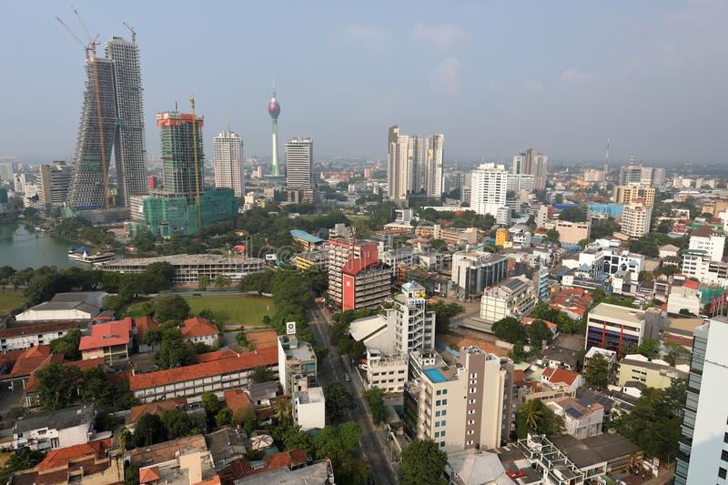 Skyline of Colombo stock photography