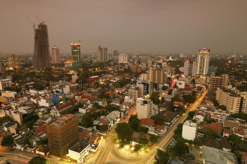 Skyline of Colombo royalty free stock photography
