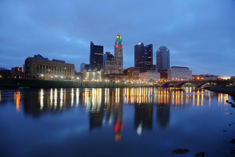 Skyline Columbus, Ohio lizenzfreies stockfoto