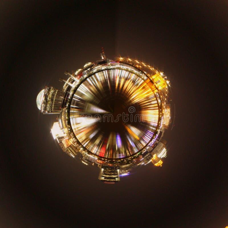 Skyline coordenada polar imagem de stock royalty free