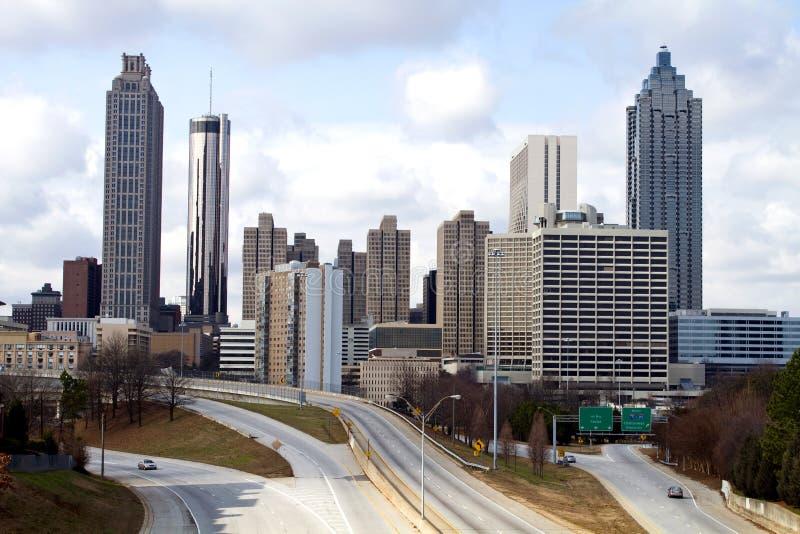 Skyline da baixa de Atlanta fotografia de stock