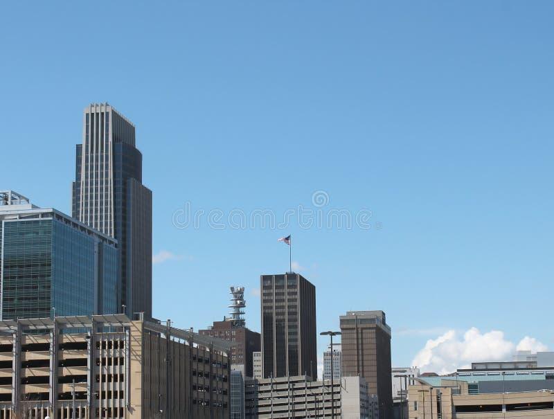 Skyline da baixa de Omaha fotos de stock royalty free
