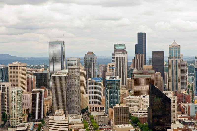 Skyline da baixa de Seattle fotografia de stock