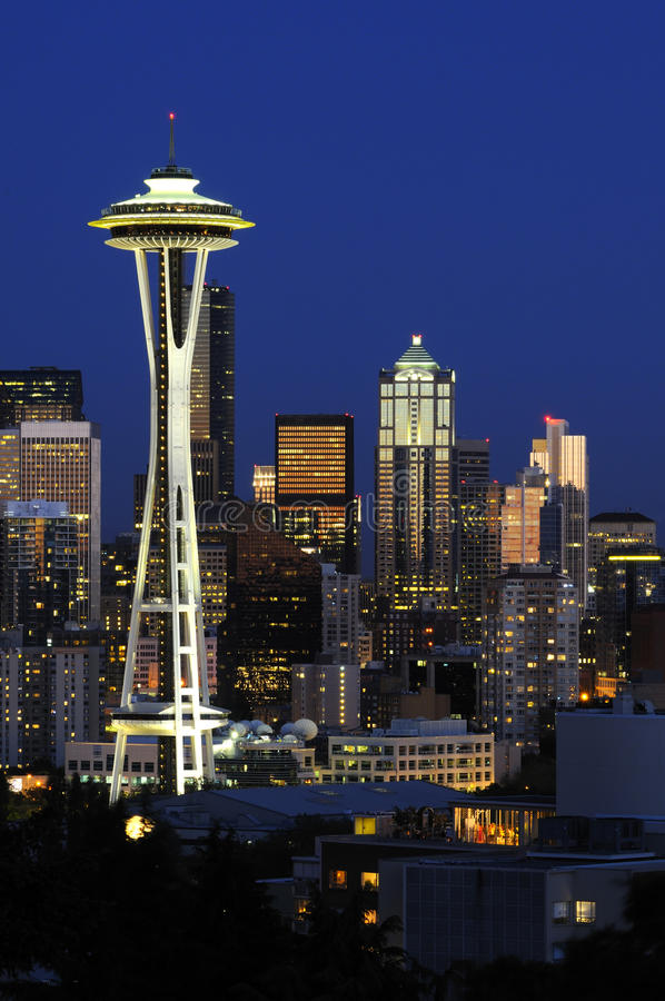 Skyline da baixa de Seattle imagem de stock royalty free