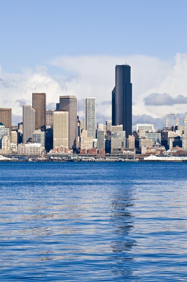 Skyline da baixa de Seattle   imagem de stock