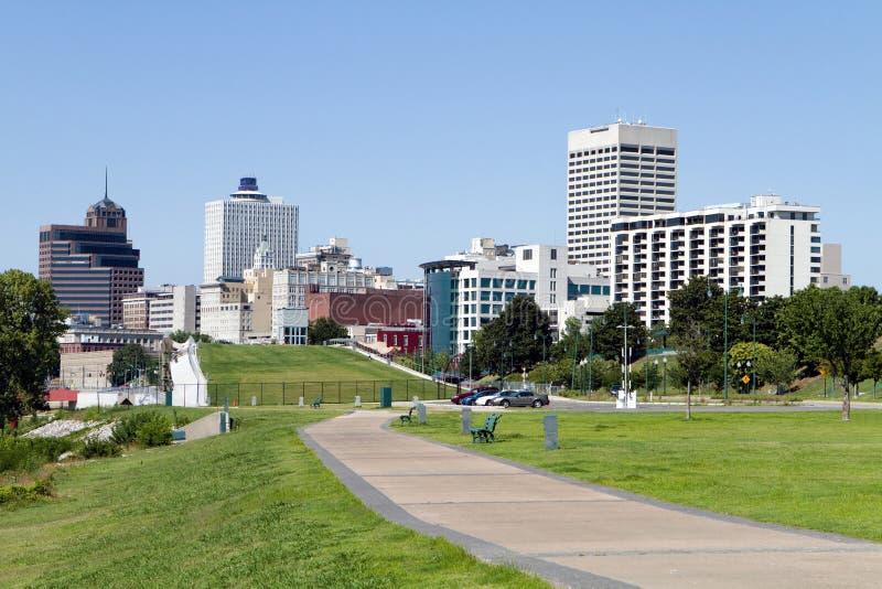Skyline da baixa do parque de Memphis imagem de stock royalty free