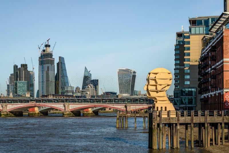 A skyline da cidade fotos de stock royalty free