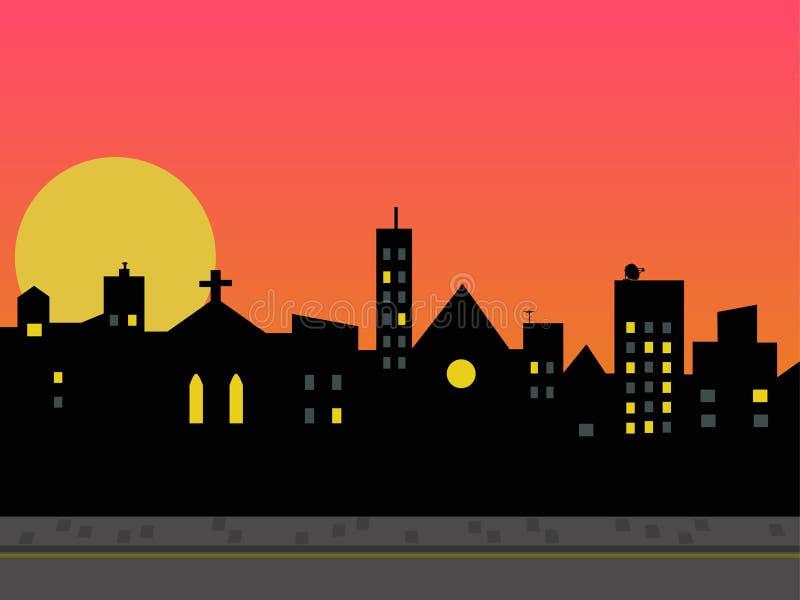 Skyline da cidade. ilustração royalty free